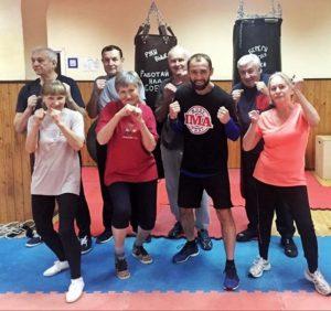ФОТО.   Тайский бокс/МуайТай для пенсионеров в городской программе  «Московское долголетие»